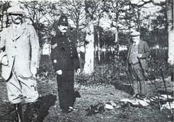 Sir Algernon with Gamekeeper and Village Policeman
