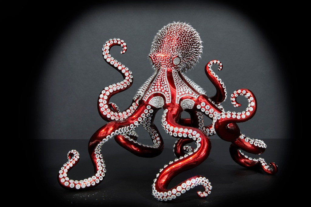 Red Candy Octopus 25cm (1)