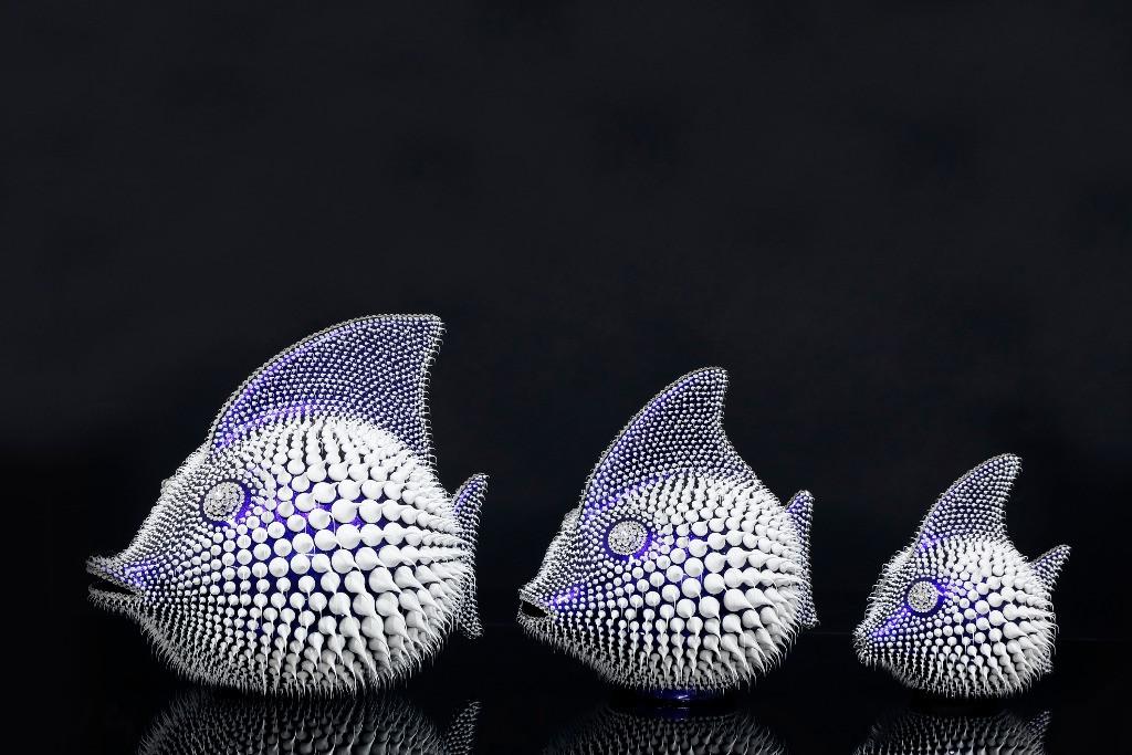 Trio Poisson Bleu Caméléon