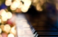 Jazz Piano Among Blurred Lights