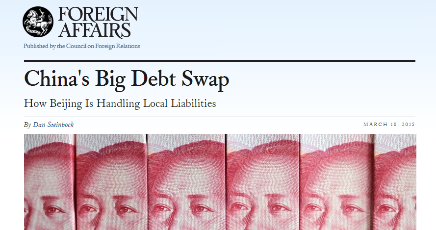 China's Big Debt Swap