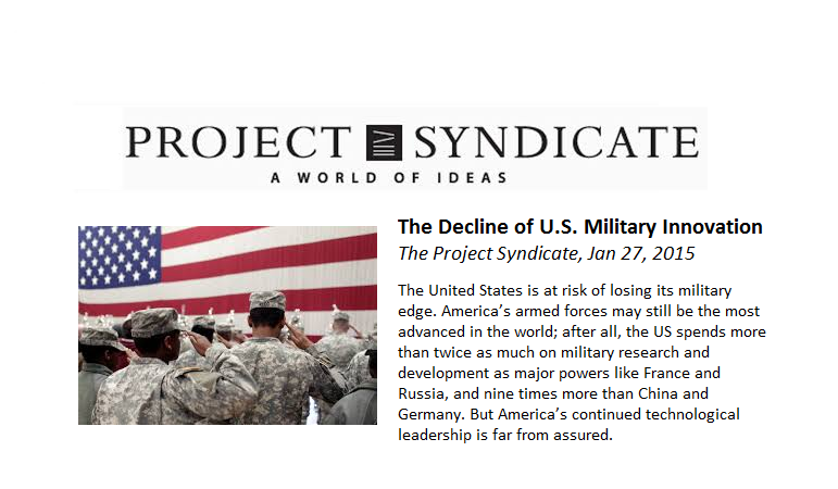 Decline of US Military Innovation.