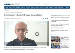 China, US Need to Reset Ties