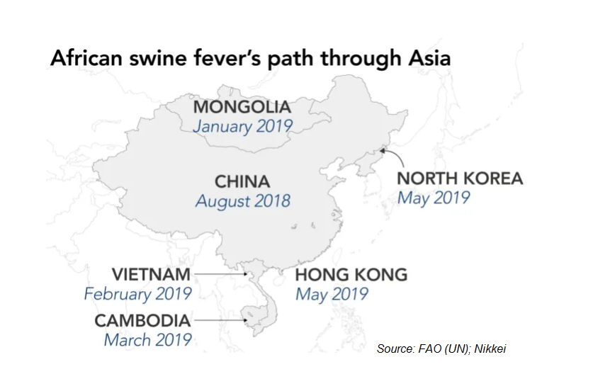 African Swine Fever in China/Asia