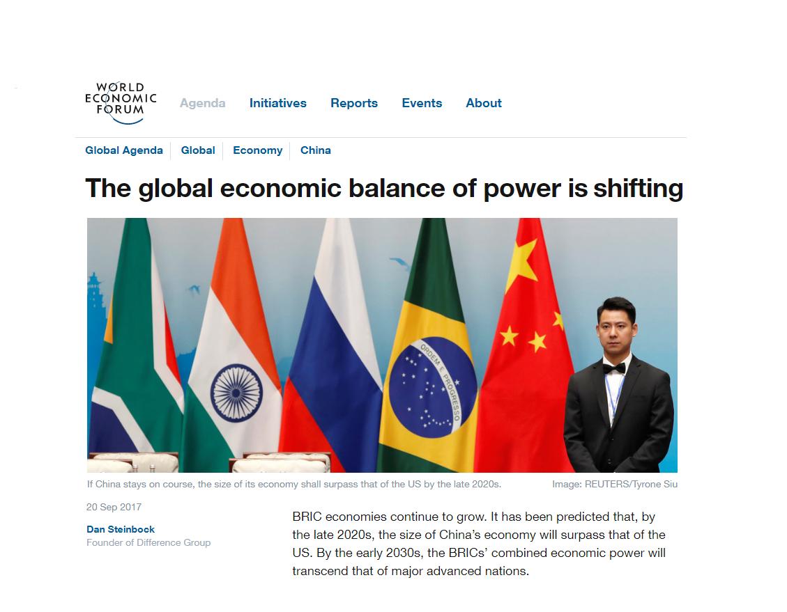 WEF Releases Dr Steinbock's Column