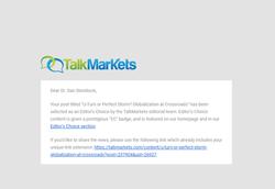 TalkMarket's Editor's Choice