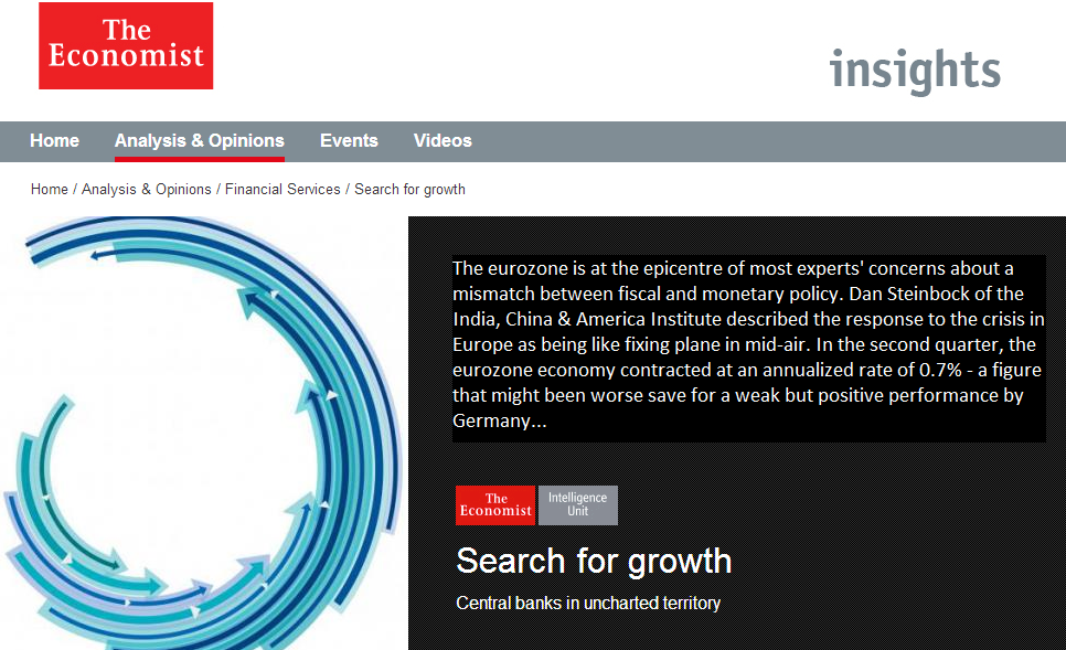 The Economist: Search for Growth