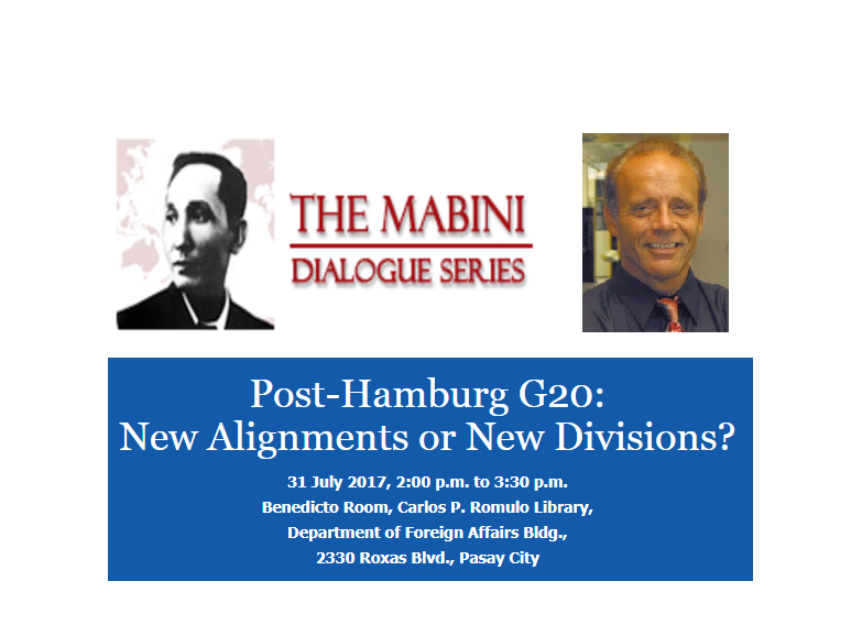 Post-Hamburg G20 (Mabini Dialogue)