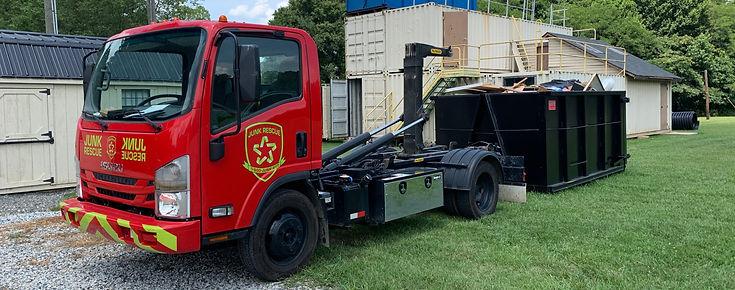Junk Rescue dumpster truck