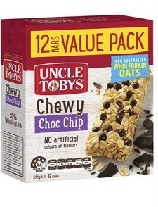 Toby Uncle 營養早餐燕麥棒 Chewy choc chip 12 Pack