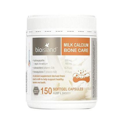 Bioisland Milk Calcium Bone Care 150粒 小瓶成人乳鈣