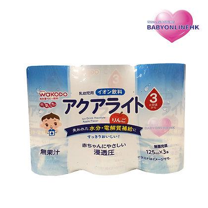WAKODO 和光堂 蘋果味電解汁飲品 125ml x 3包 (3個月或以上食用)