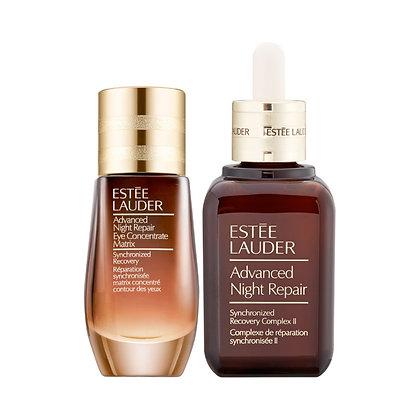Estée Lauder 升級再生基因修護眼面套裝 面部精華50ml+ 亮眼精萃 15ml