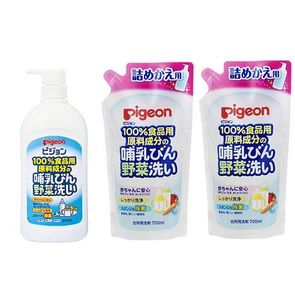 Pigeon 奶樽蔬菜清潔液 800ml樽裝 + 700ml補充裝 x 2