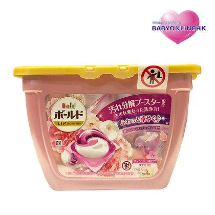 P&G-BOLD 療癒香抗菌防菌洗衣球 17粒盒裝 (粉-牡丹花香)