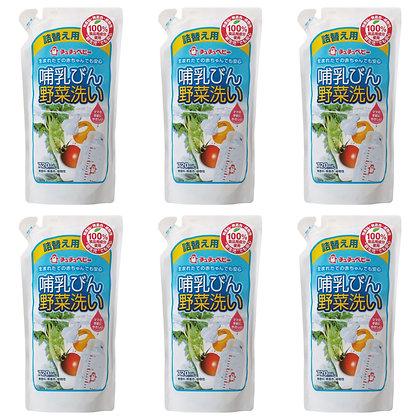 Chu Chu 奶樽蔬菜清潔液 720ml 補充裝 (6包)