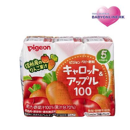 Pigeon - 紅蘿蔔蘋果汁3包裝