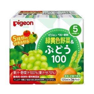 Pigeon 5種綠黃色提子菜汁 x 3包