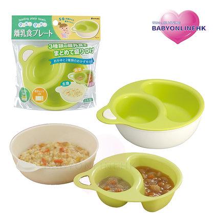 INOMATA 兩層便利食物碗 -綠色