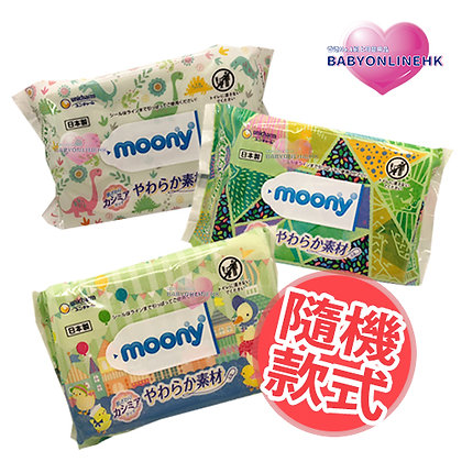 Moony 柔軟濕紙巾80枚