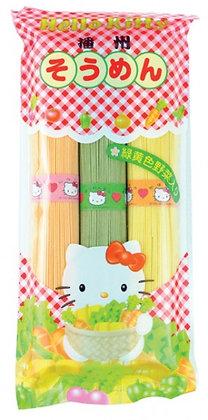Kanesu Hello Kitty播州三色蔬菜掛麵300g