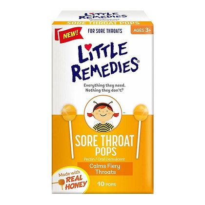 LITTLE REMEDIES 天然蜂蜜潤喉棒棒糖 10 支