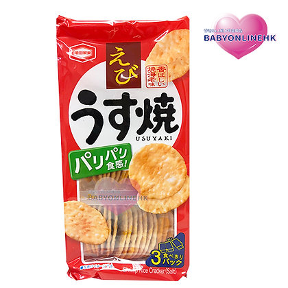 亀田製菓 輕鹽燒蝦餅 (3筒入) 80g