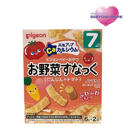 Pigeon高鈣胡蘿蔔蕃茄餅乾條 7M+ 7g x 2