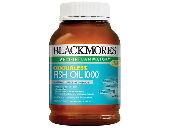 Blackmores Odourless Fish Oil 1000 400 Cap 無腥魚油