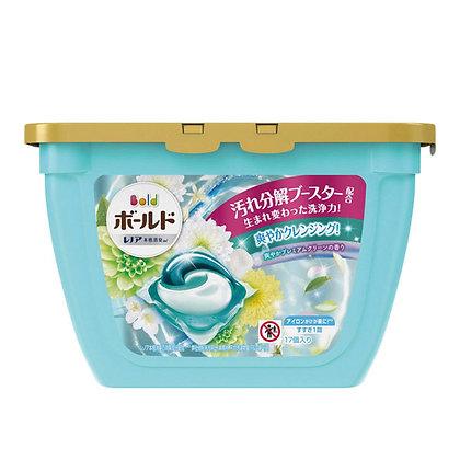 P&G-BOLD 療癒香抗菌防菌洗衣球 17粒盒裝 (水藍-白葉花香)