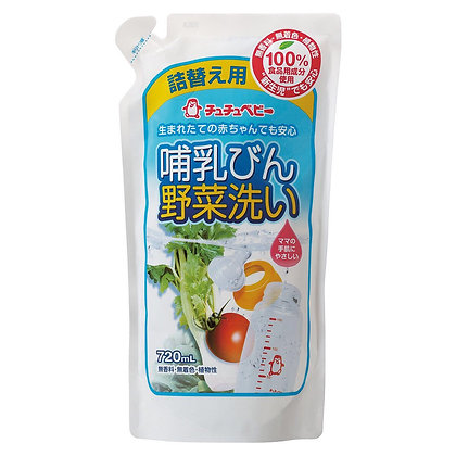 Chu Chu 奶樽蔬菜清潔液 720ml 補充裝