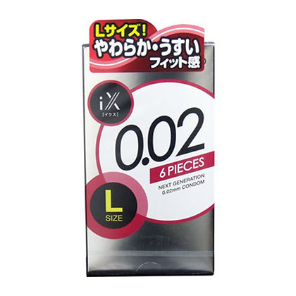 Jex iX 0.02 大碼 6 片裝 PU 安全套