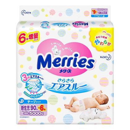 Merries 花王尿片 NB90+6片 增量版
