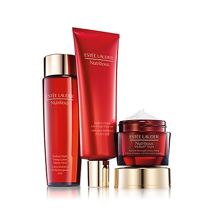 Estee Lauder Overnight Radiance Collection 紅石榴三件套