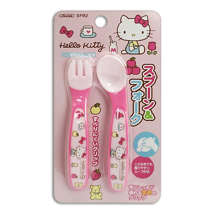 Skater Hello Kitty 幼兒叉匙套裝