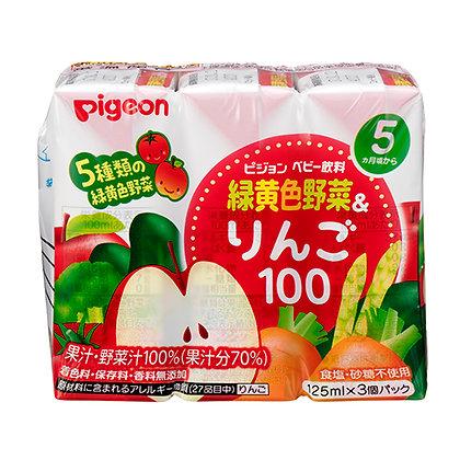 Pigeon 五種蔬菜蘋果汁125ml  3包裝