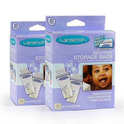 Lansinoh 母乳儲奶袋50個