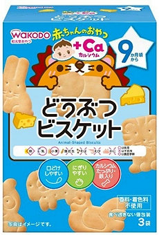 Wakodo 和光堂 嬰兒芝士味動物餅