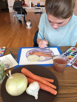 Audrey Quist painting