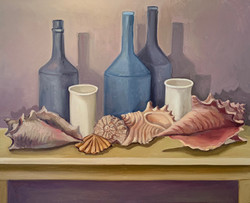 Shell with Bottles and Cups