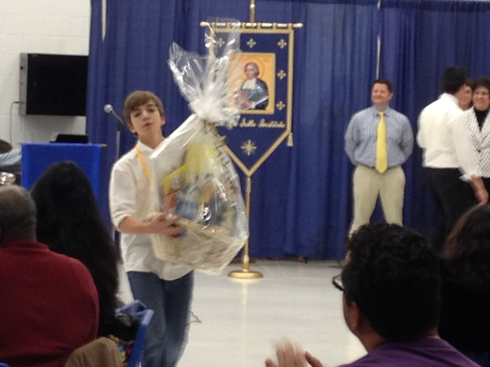 Gavin McAllister receiving his award
