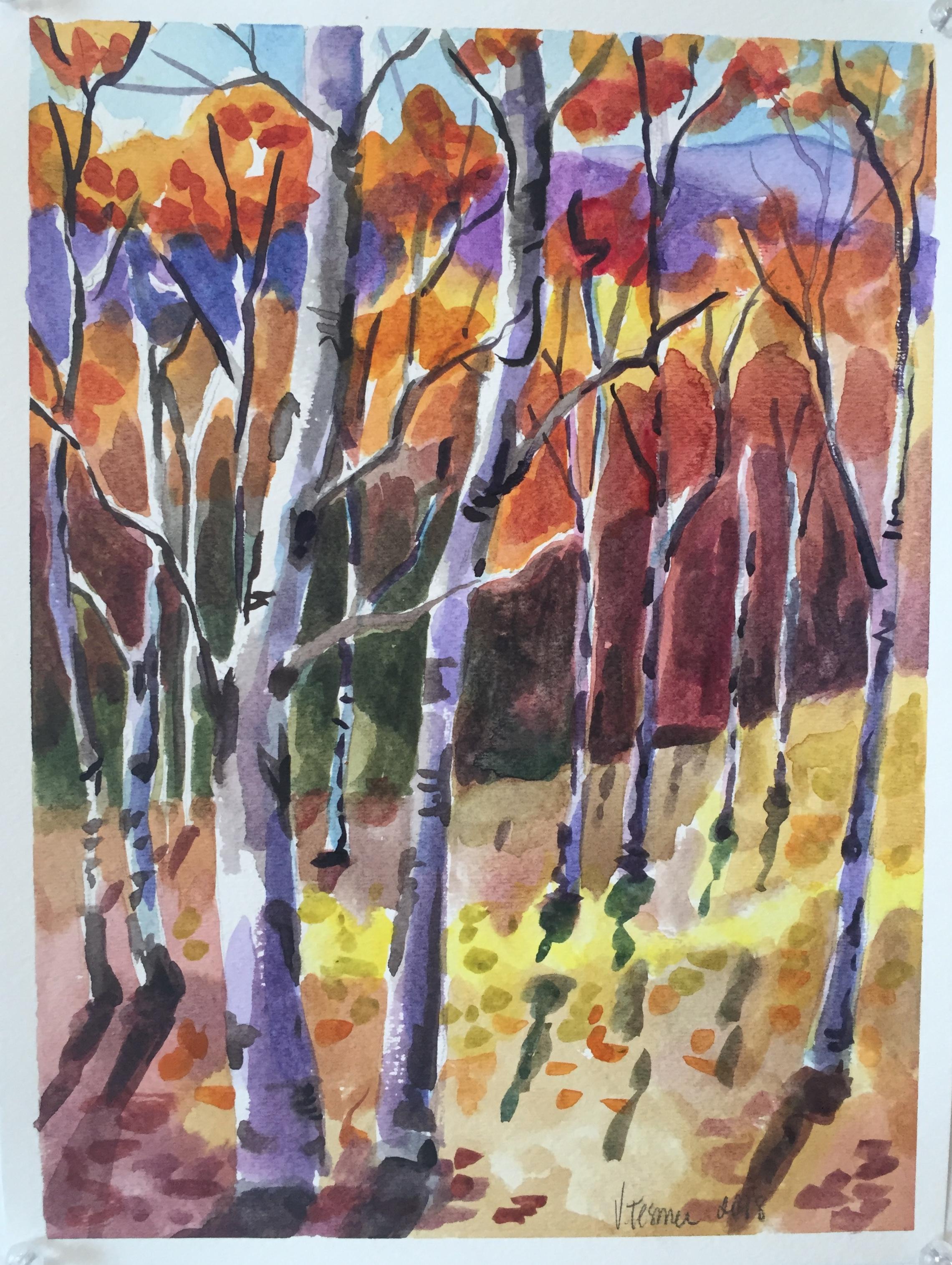 Birch Trees in November