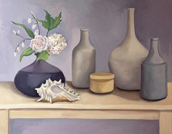 Flower and Shell with Jars