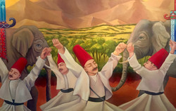 Detail of Whirling Dervishes
