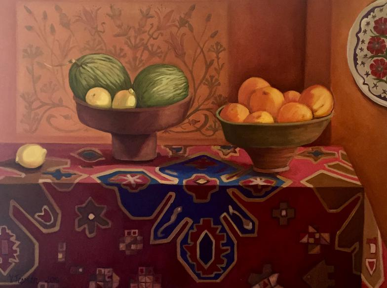 Still Life on Turkish Cloth