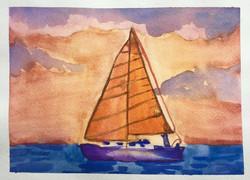 """Sailboat"" by Scarlett Hughes"