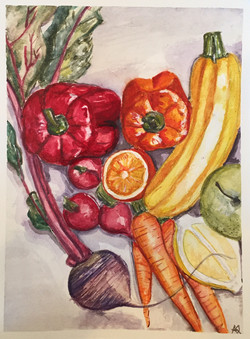 Audrey's  Study of Vegetables