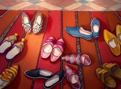 Shoes in Doorway to Mosque