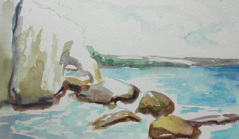 Plein Aire Study of Rosh HaNikra