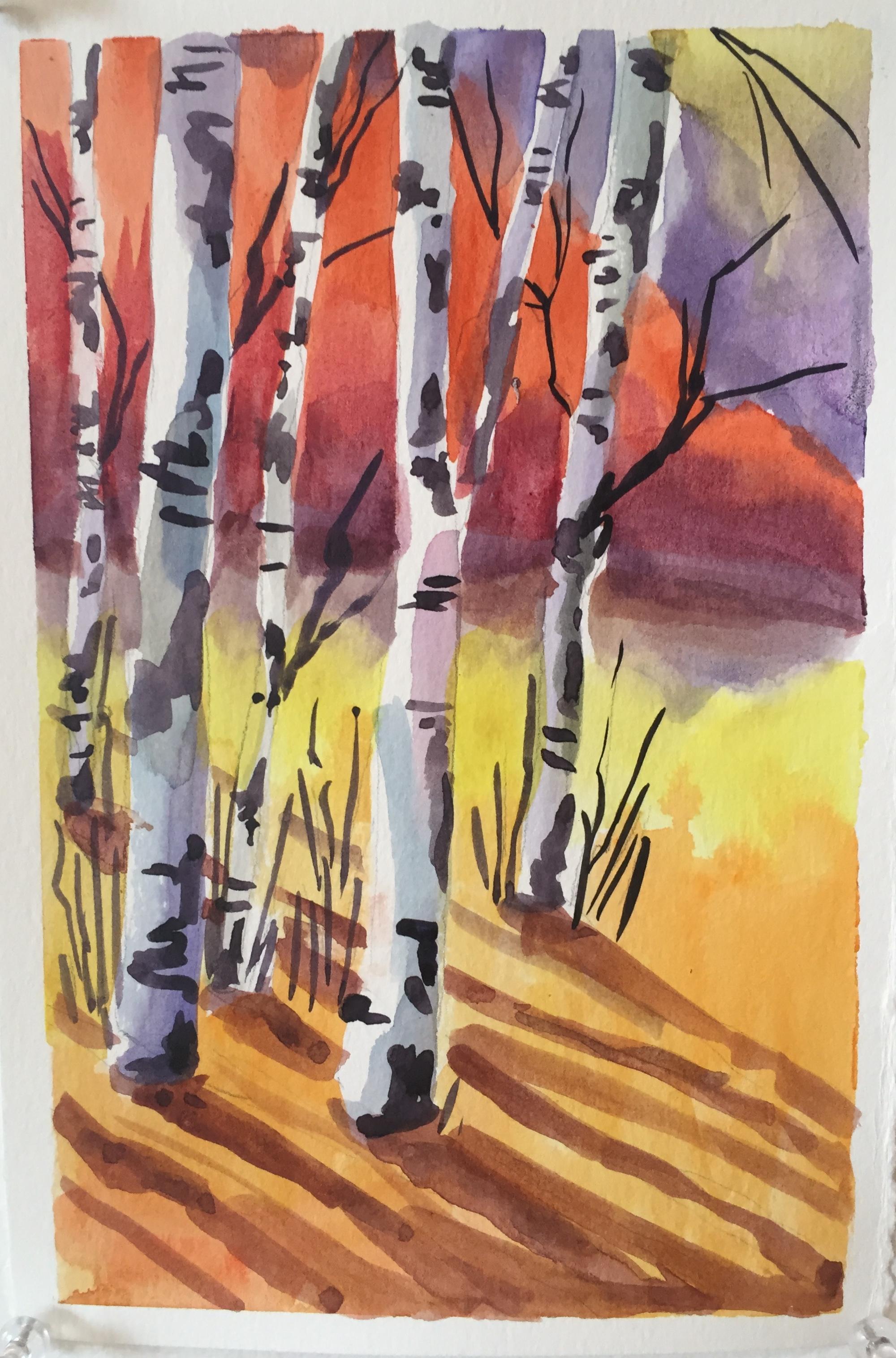 November - Birch Trees